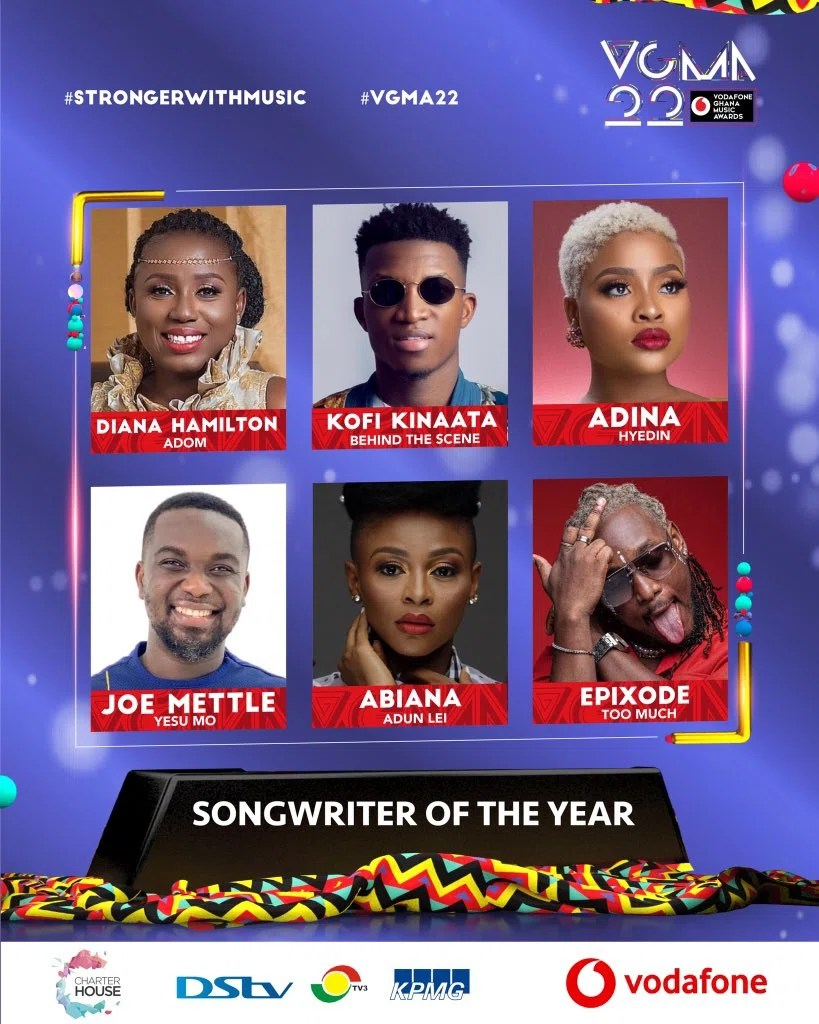 20210403 140602 Chartered House Has Released The NomineesList Of The 22nd Edition Of VGMA Awards