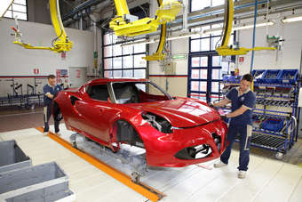 ITALY: Alfa Romeo 4C manufacturing processes revealed   Automotive Industry News   just-auto