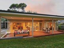 outdoor living design with verandah