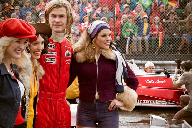 Chris Hemsworth stars as James Hunt in the film Rush