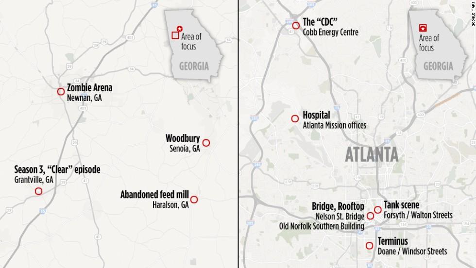 'Walking Dead' tours: Zombie sites in Atlanta, rural