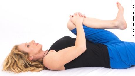 Sleep better with six minutes of bedtime yoga