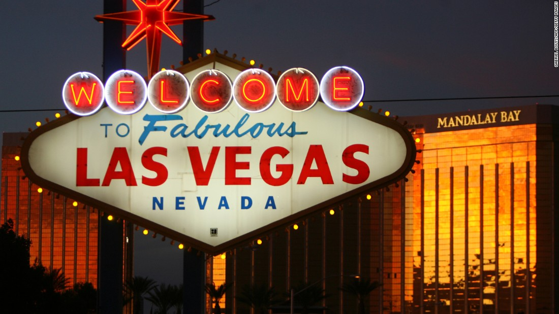 A view of the welcome sign on Las Vegas Boulevard