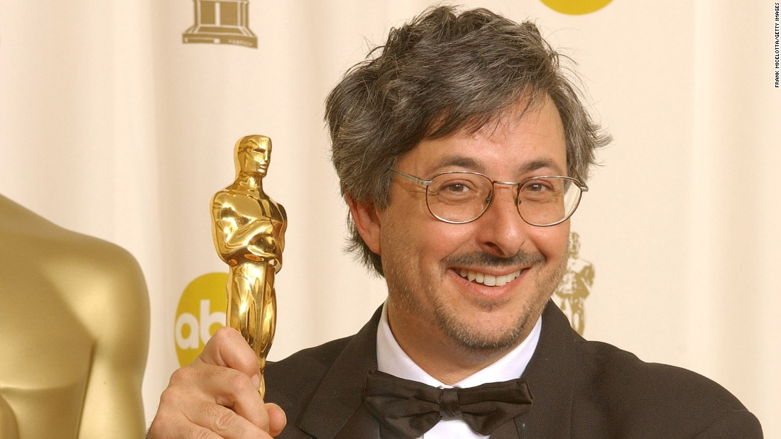 Andrew Lesnie and his award for Achivement in Cinematography for THE LORD OF THE RINGS:THE FELLOWSHIP OF THE RINGS backstage at the 74th Annual Academy Awards held at the Kodak Theatre in Hollywood, Ca., March 24, 2002.