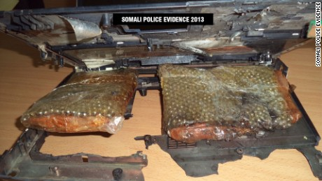 Image result for laptop bomb smuggled onto a flight from Somalia by insurgents from Al-Shabaab