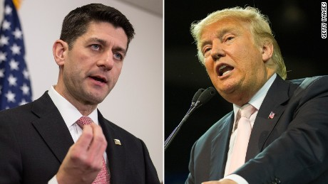 Image result for Speaker Paul Ryan and Donald Trump 2016