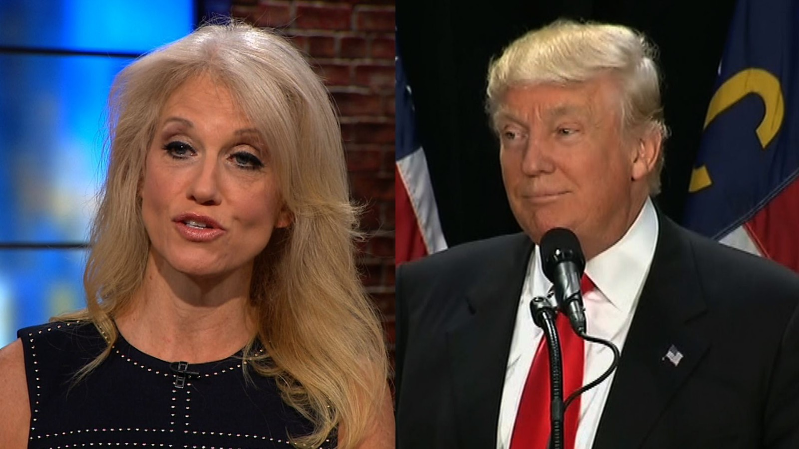 Image result for trump and kellyanne conway