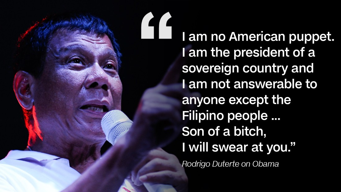 Image result for Duterte and Obama