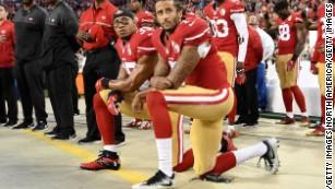 Colin Kaepernick continues kneeling protest ahead of 49ers opener