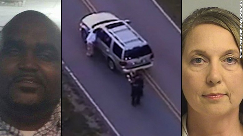 Terence Crutcher, left, was shot and killed by Tulsa police Officer Betty Shelby in an incident caught on camera.