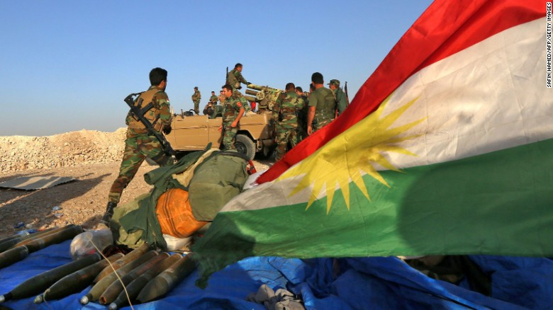 Kurdish Peshmerga fighters are among the Iraqi-led coalition to free Mosul from ISIS rule.