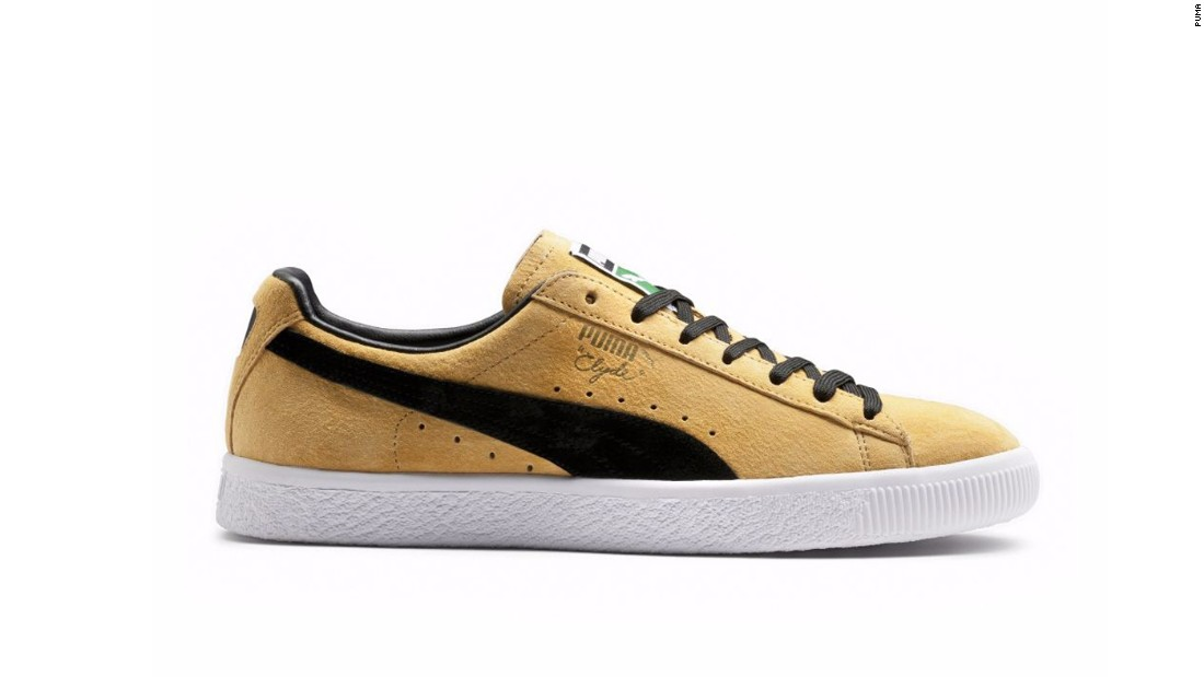 """The PUMA Clyde was created in 1973, when Knicks basketball player Walt """"Clyde"""" Frazier apparently asked the brand for a custom pair of PUMA Suede. The shoes has since been released in a myriad of colorways, prints and fabrics, paying homage to Clyde's notoriously flamboyant style."""