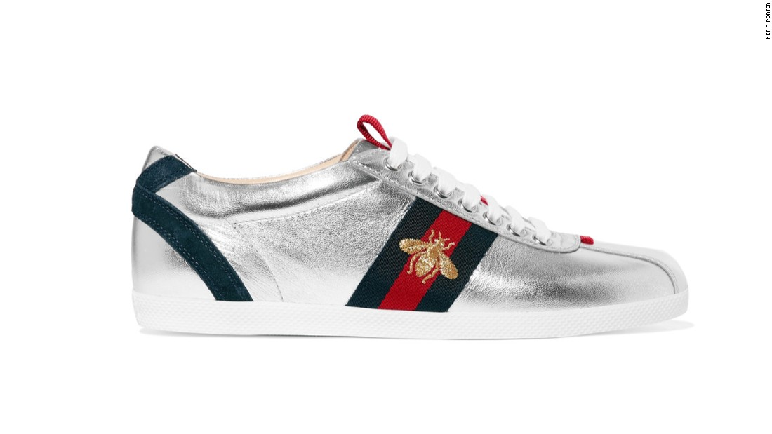 """Gucci became the first luxury designer brand to produce sneakers in 1984. It's <a href=""""https://www.mrporter.com/en-gb/product/704456?cm_mmc=ProductSearchPLA-_-GB-_-Shoes-_-Sneakers-Google&ignoreRedirect=true&ppv=2&cm_mmc=GoogleUK--c-_-MRP_UK_EN_PLA-_-UK%20-%20GS%20-%20Price%20Bands---_-__pla-104396119772&mkwid=sVWlc3CyT