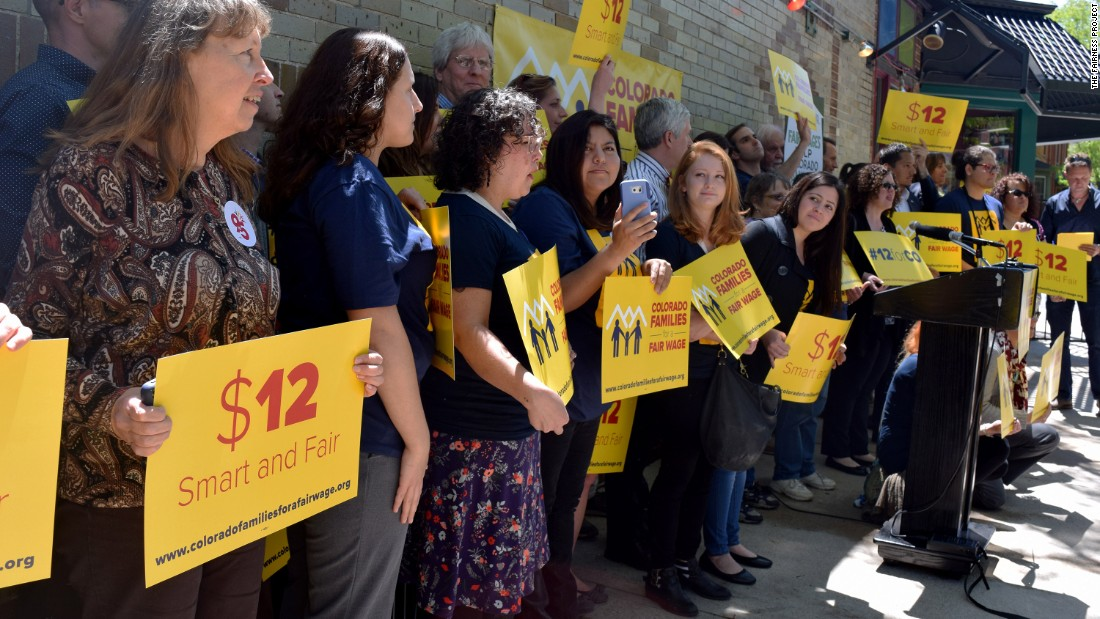The push for minimum wage to be $15 per hour
