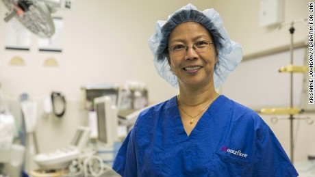 Esther Uy, a patient care coordinator with the department of neurosurgery.