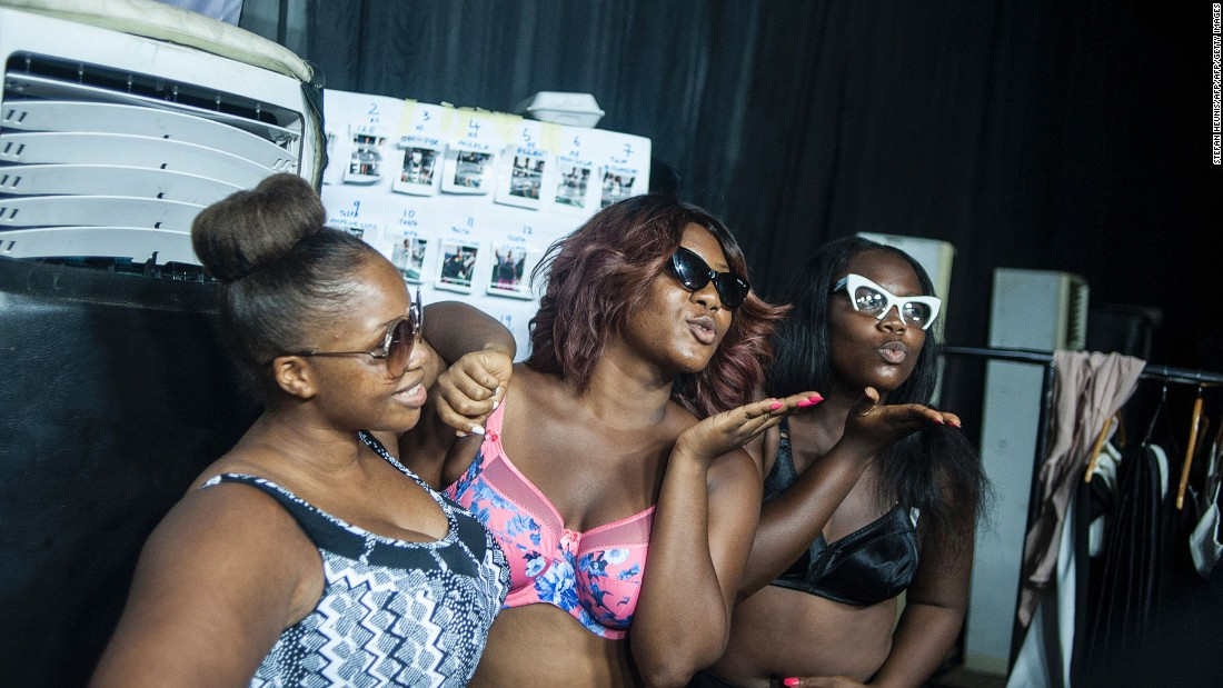 """Lagos is the fashion capital of the continent, as well as being the country of bigger-boned women and men,"" explains Ngwube. <br />Pictured: Plus-size models pose for a picture prior to LFDW. Photo: Stefan Heunis/AFP/Getty Images"