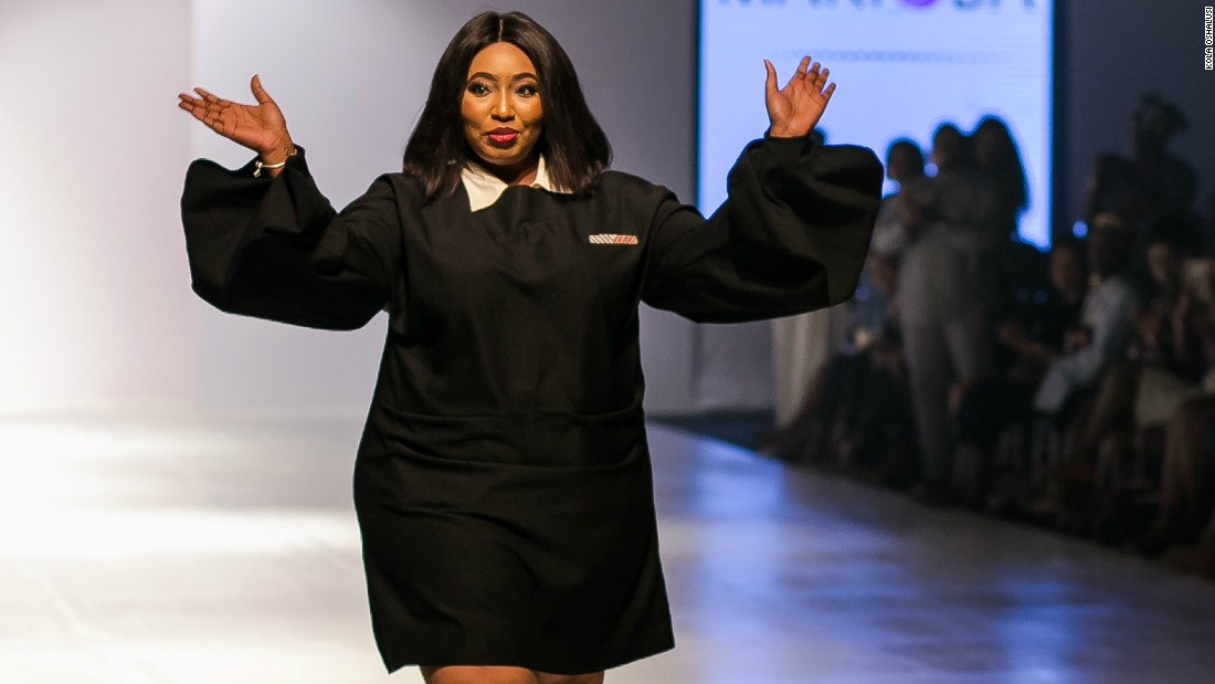 Now Ngwube is looking at starting a plus-size modeling agency as well as a series of Body Confidence talks.<br />Pictured: Ngwube takes to the runway after a successful run at LFDW.