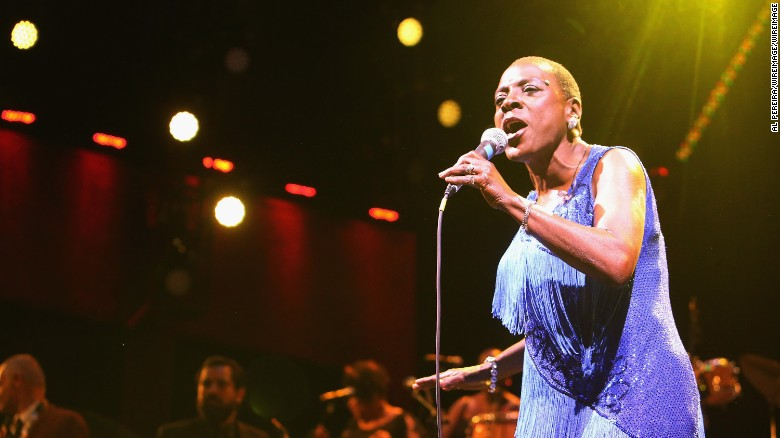 Sharon Jones and The Dap-Kings perform in June at the Prospect Park Bandshell in New York.