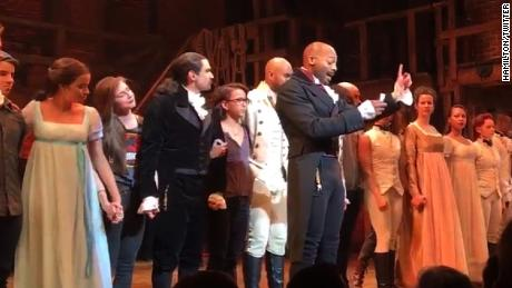 Image result for Hamilton cast addresses Mike Pence