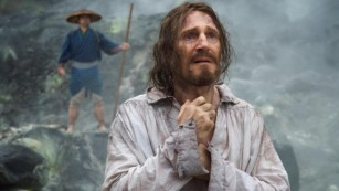 """Liam Neeson stars as Father Cristóvão Ferreira in 'Silence,"""" a story about two Jesuit priests who face persecution when they travel to Japan to locate their mentor and propagate Catholicism."""