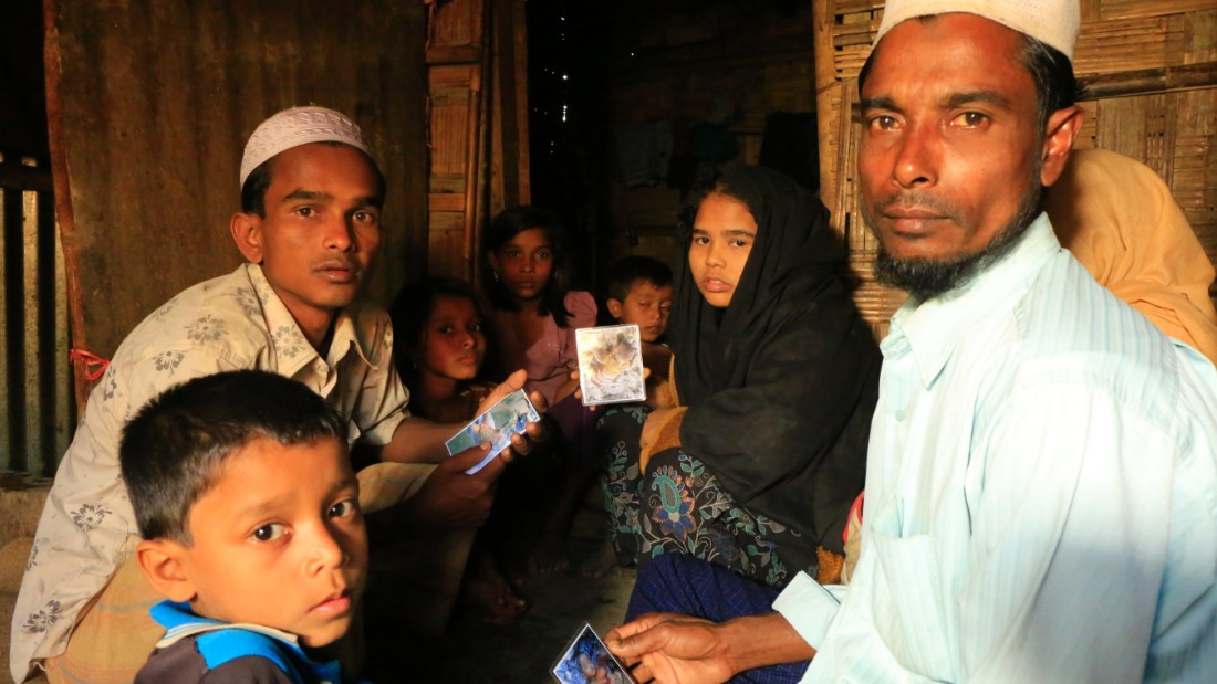 Zafor Alam's 18-year-old sister and 14-year-old brother are both with him in the camp in Bangladesh.