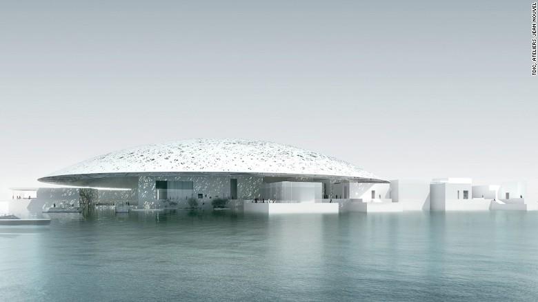 Originariamente previsto per terminare nel 2012, l'apertura del tanto atteso Louvre Abu Dhabi è stata rinviata al 2017. Progettato dal premiato architetto Ateliers Jean Nouvel, con un budget di 2,4 miliardi di AED (653.400.000 $), il ramo UAE del famoso museo parigino dispone di curve morbide e una facciata bianca fresca.