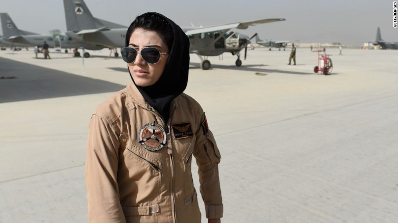 Image result for First female Afghan air force pilot asks US for asylum