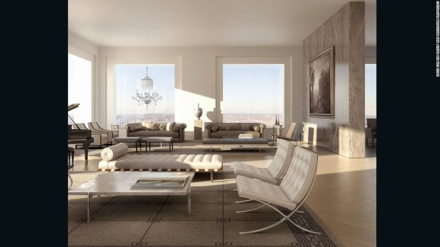 A record breaker, this sale marked the biggest closed in New York City this year. The 8,255 sq ft penthouse at the top of the world's tallest residential tower, designed by Rafael Viñoly, was purchased by Saudi billionaire Fawaz Al Hokair in a deal reported to have closed in September.
