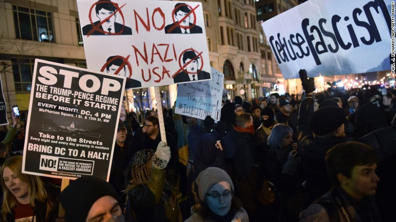 Police injured, more than 200 arrested at Trump inauguration protests in DC