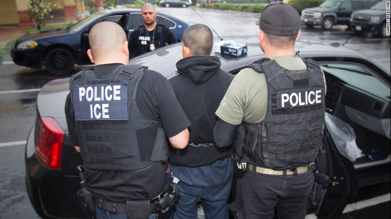 A series of immigration arrests throughout the United States, such as this one in Los Angeles, have sent waves of fear across  mostly immigrant enclaves.