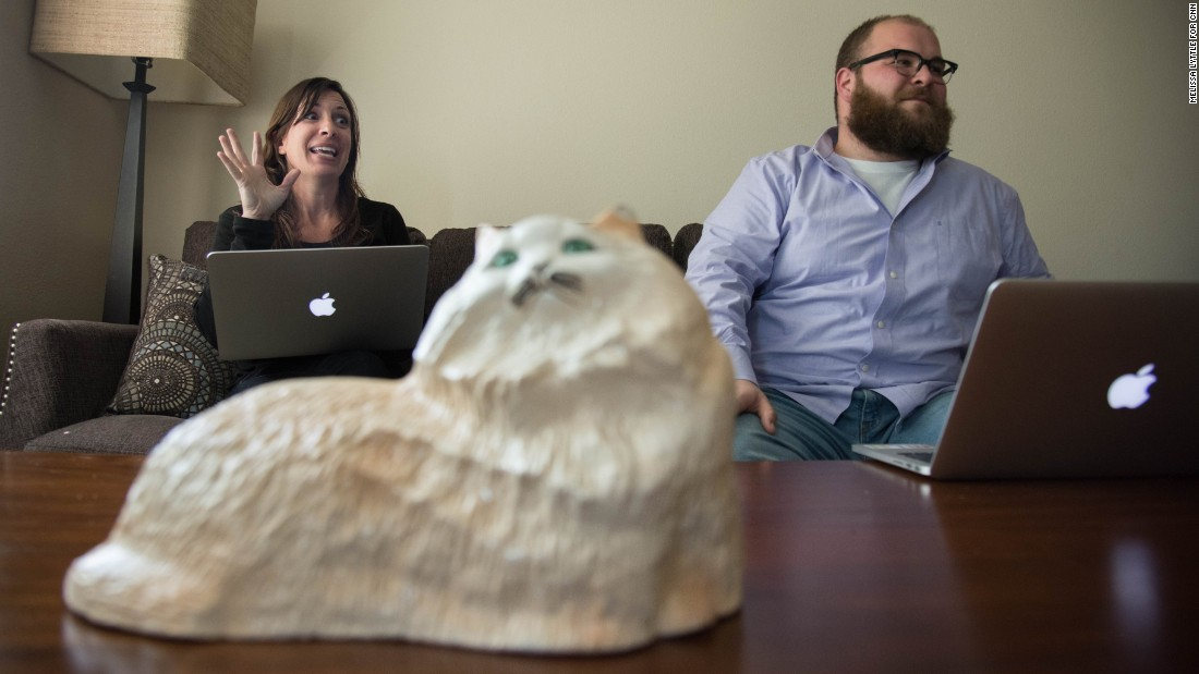Snopes managing editor Brooke Binkowski, left, and Vinny Green, director of business development.