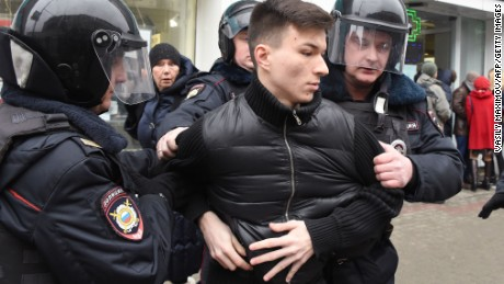 Russia promises crackdown after large protest