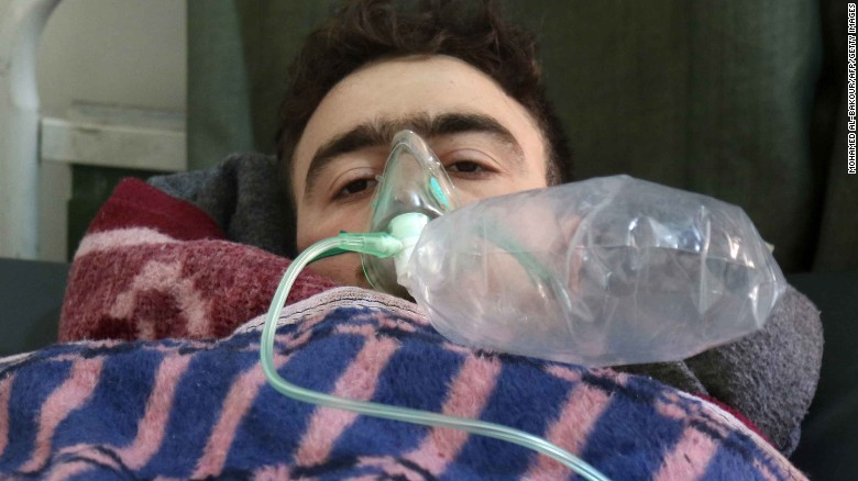Image result for image of syrian gas attack