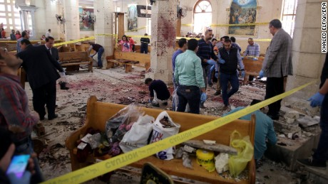 Image result for Egypt declares state of emergency after Palm Sunday church bombings