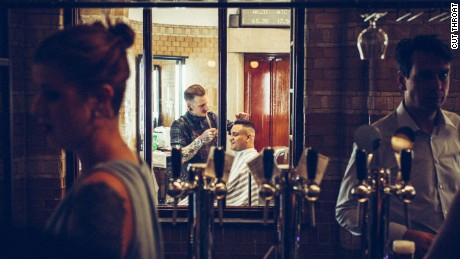 Short back and sides or short black? Coiffeurs and coffee are on offer at Cut Throat.