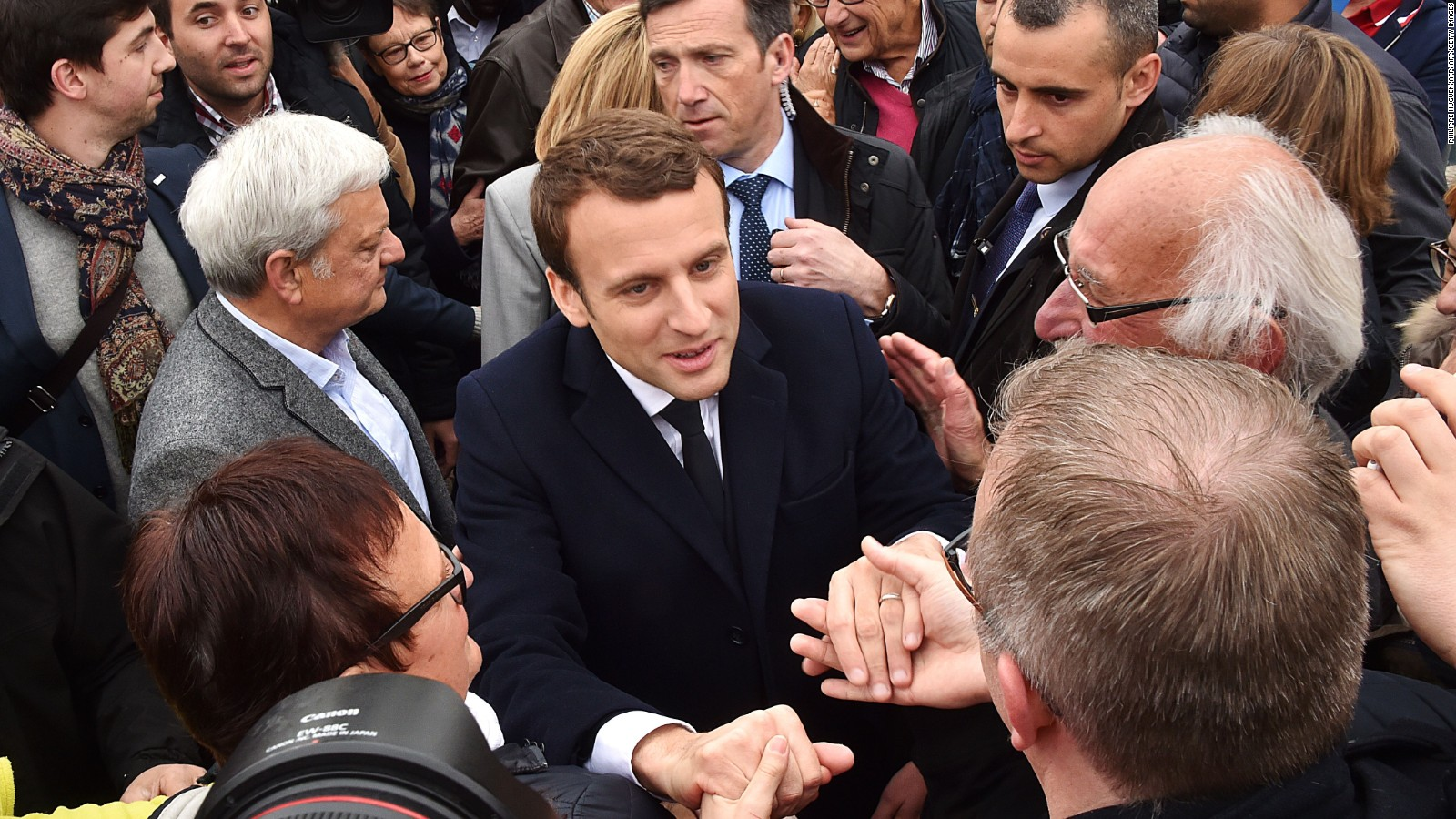 Image result for macron gives markets a boost