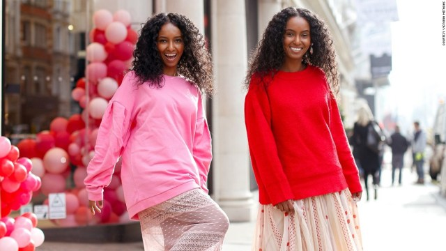 The sisters are pursuing modeling and acting careers.  Pictured: Hermon (L) and Heroda (R)