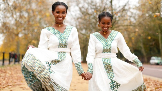 "Together the two run a fashion blog called <a href=""http://beinghermonheroda.com/"" target=""_blank"">Being Her</a>. Hermon, left, and Heroda model affordable urban and traditional Eritrean outfits to a growing audience."