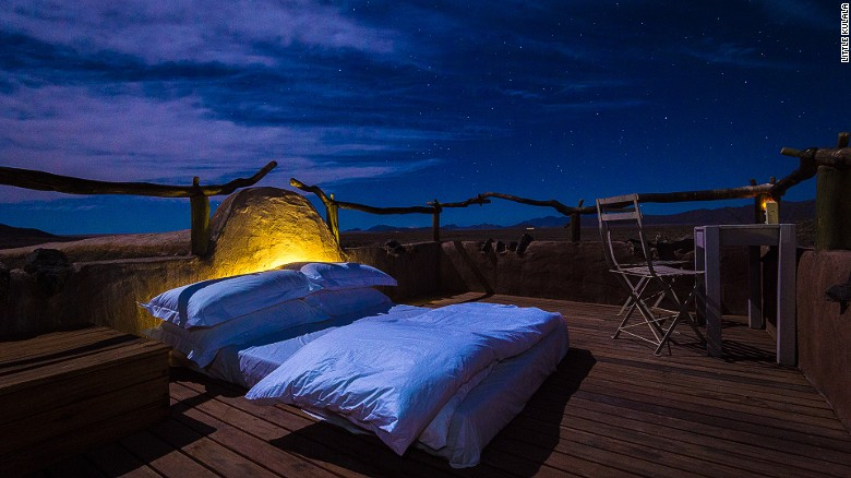 Little Kulala offers the quintessential desert experience -- plus rooftop beds.