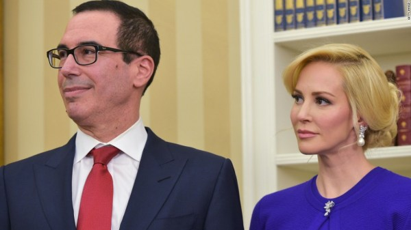 170509224132 louise linton super tease - Trump and Pence attend Treasury Secretary Mnuchin's wedding
