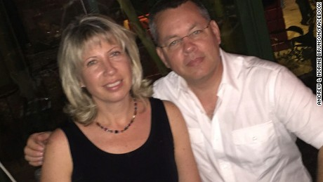 American pastor Andrew Brunson with his wife, Norine Brunson.