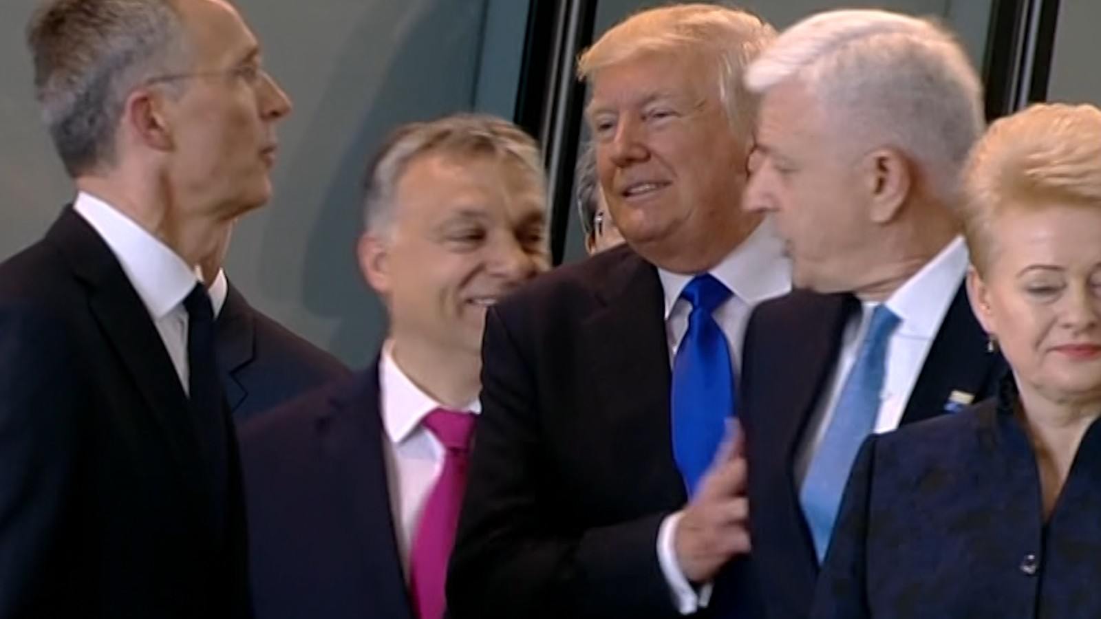 Image result for images of NATO with Trump on May 25, 2017