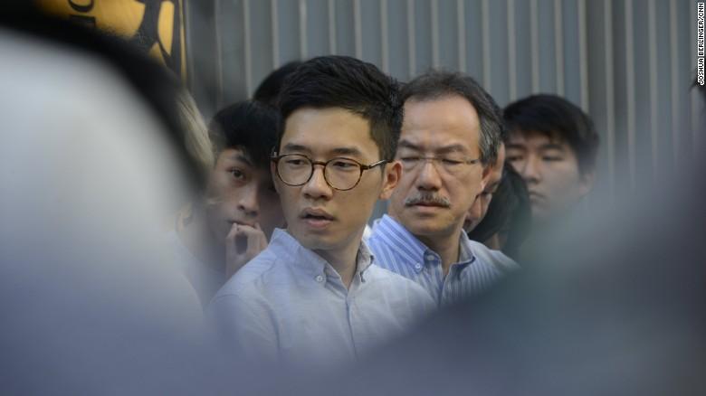 Hong Kong lawmaker Nathan Law at a press conference on June 30.
