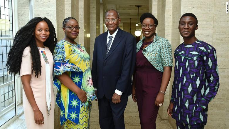 The shortlist (from left): Magogodi oa Mphela Makhene, Chikodili Emelumadu, Bushra al-Fadil, Lesley Nneka Arimah, Arinze Ifeakandu.