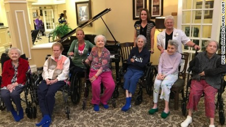 Flooded Texas senior citizens in viral photo are now safe
