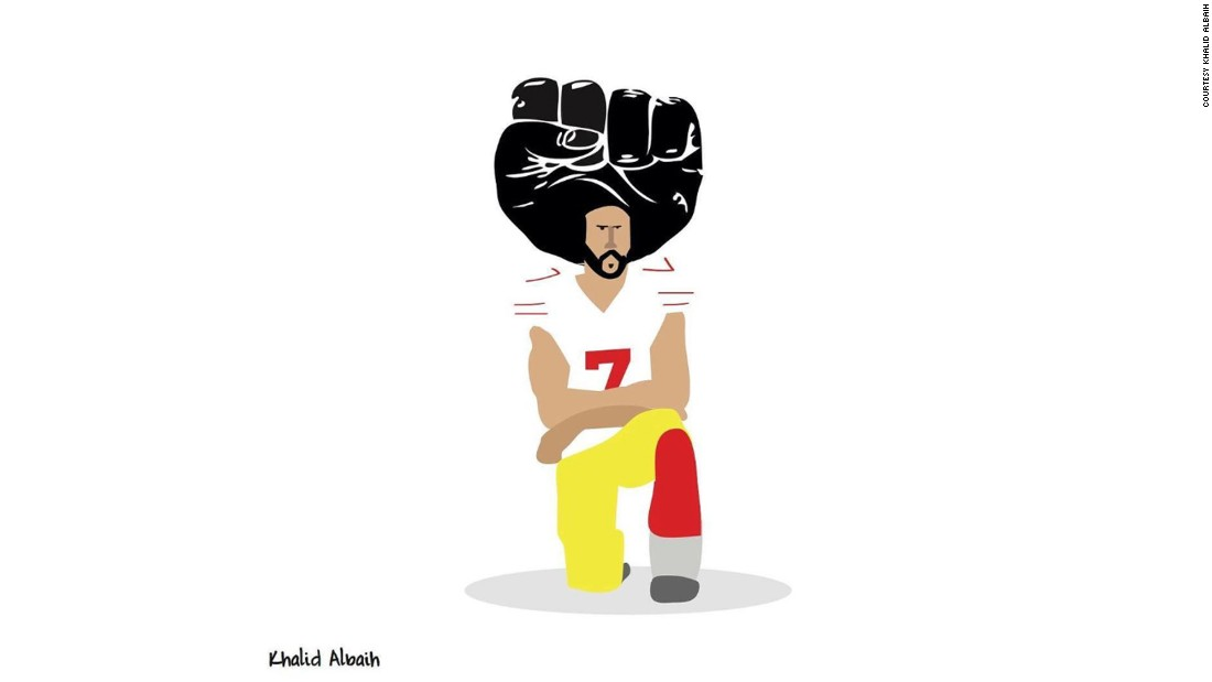 Image result for colin kaepernick afro fist