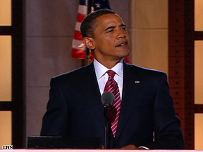 Sen. Barack Obama formally accepted the Democratic Party's nomination Thursday night.