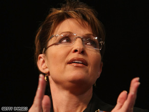 """Gov. Sarah Palin on Wednesday praised John McCain as a """"true profile in courage."""""""