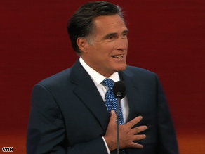 Former Gov. Mitt Romney says Sen. John McCain will rein in government spending. (CNN)