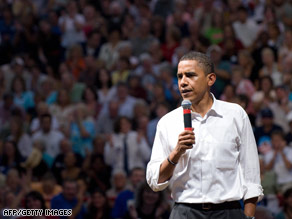 Barack Obama used the 'lipstick' line at a campaign event in Lebanon, Virginia, on Tuesday.